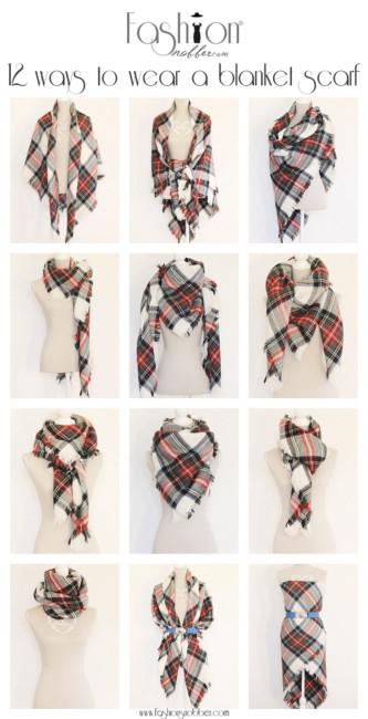Come indossare una maxi sciarpa - How to wear a maxi scarf.