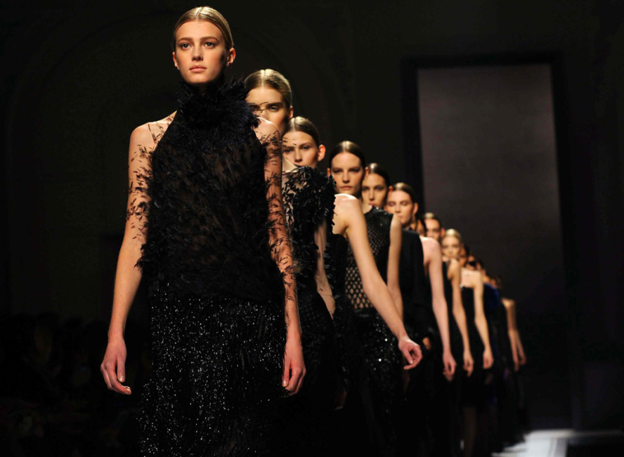 Milan fashion week fashion show Alberta Ferretti.