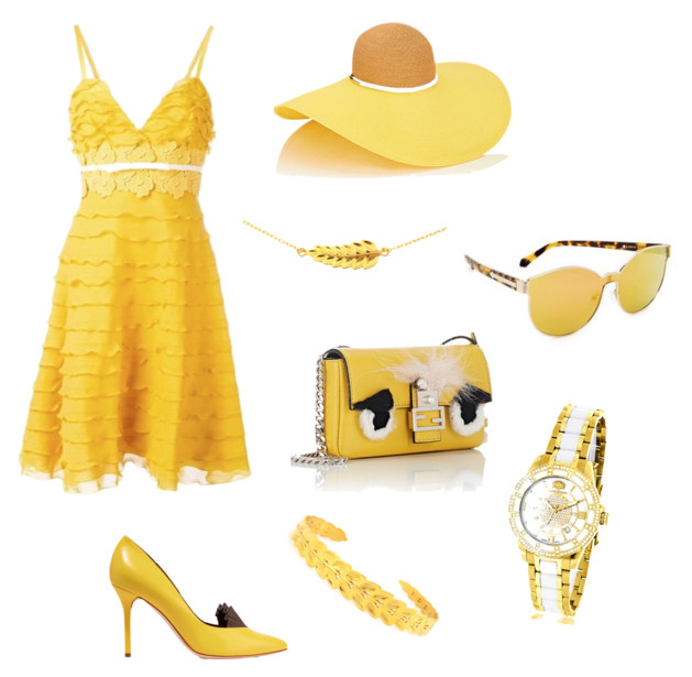 Primrose Yellow color outfit.