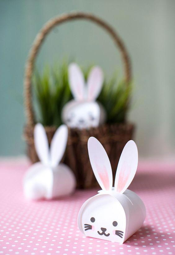 Idea fai da te coniglietto di Pasqua - DIY Easter bunny idea.