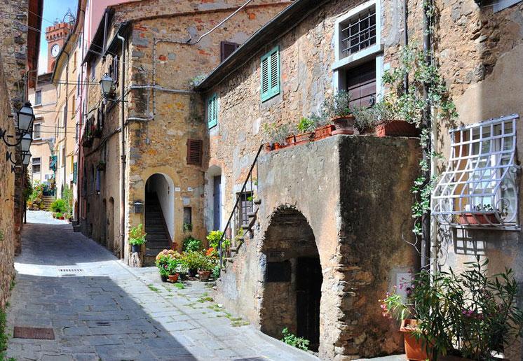 Borgo di Bolgheri in Tuscany.