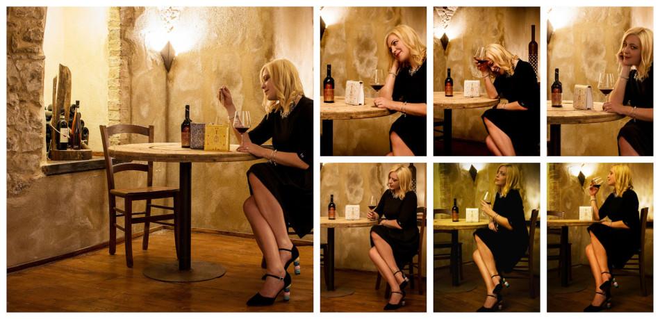 Vino Fattoria Sant'Appiano, outfit tubino nero Blumarine, borsa Replica 1954 Sapaf Atelier - Wine Sant'Appiano Farm, outfit little black dress Blumarine Replica 1954 bag by Sapaf Atelier.