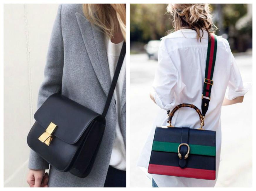 Indossare la borsa a tracolla.