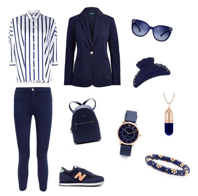 Navy Peony outfit colore di stagione autunno inverno 2017.