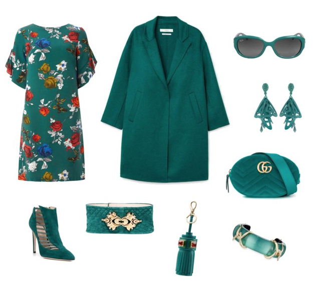 Shaded Spruce outfit colore di tendenza autunno inverno 2017.