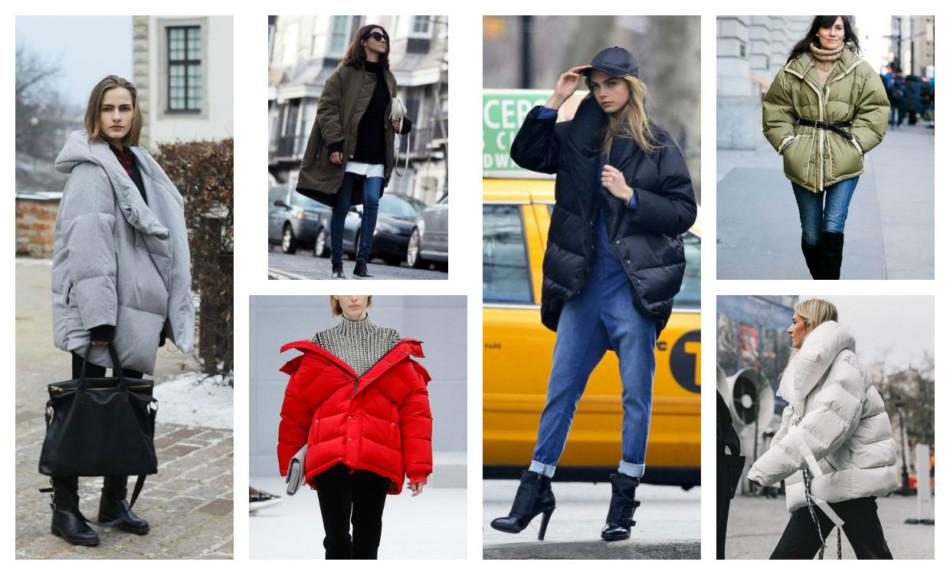 Oversize padded jacket outfit ideas.