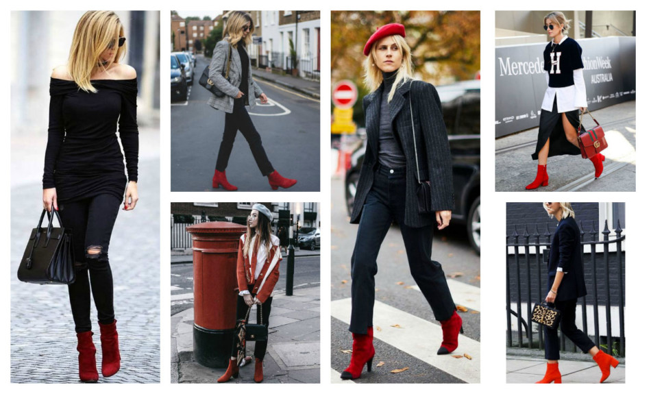 Stivali rossi must have dell inverno - Red boots winter must have.