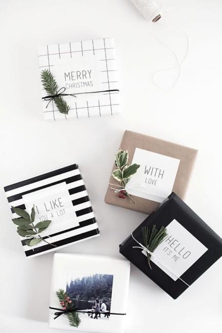 Idee su come impacchettare i regali di Natale - Ideas on how to bundle Christmas presents.