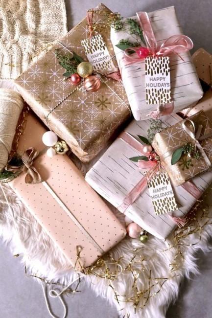 Come impacchettare i regali di Natale - How to bundle Christmas presents ideas.
