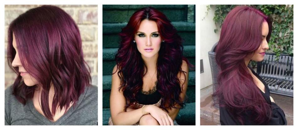 Purple red hair.