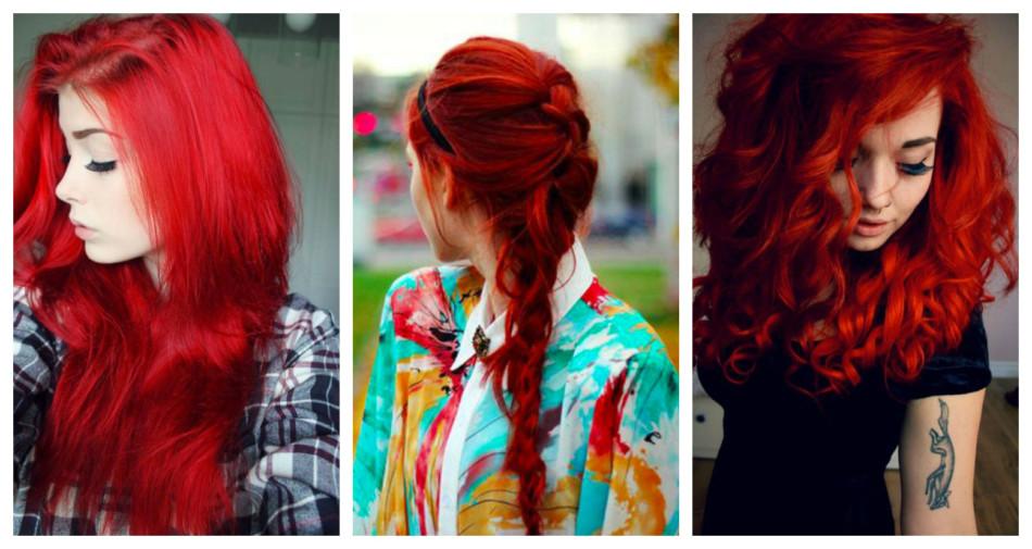 Fair red hair.