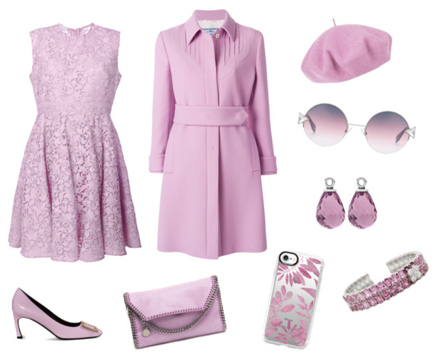 Pink Lavender seasonal spring summer 2018 color outfit idea.
