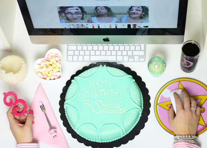 Torta di compleanno per fashion blogger.