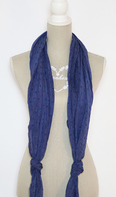 How to wear a double low knot scarf.