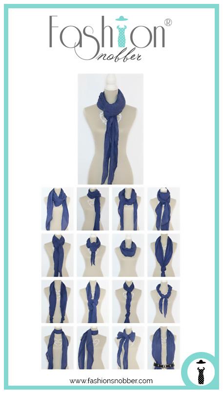 Come indossare una sciarpa leggera in tanti modi diversi.