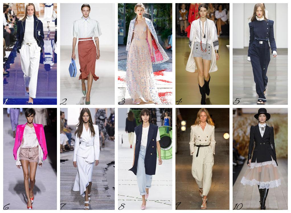 Il meglio delle sfilate primavera estate 2018 moda donna.