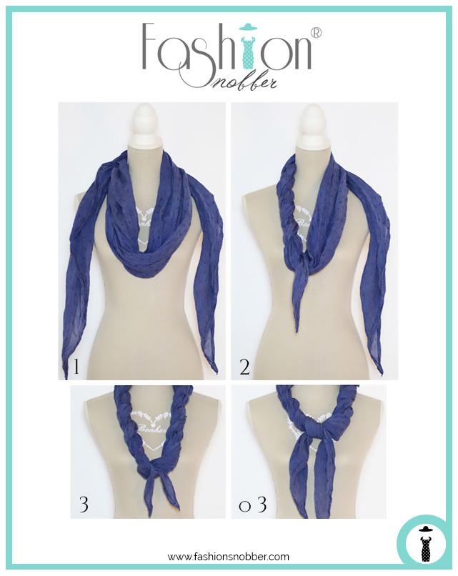 Come fare una collana in due modi diversi con una sciarpa.