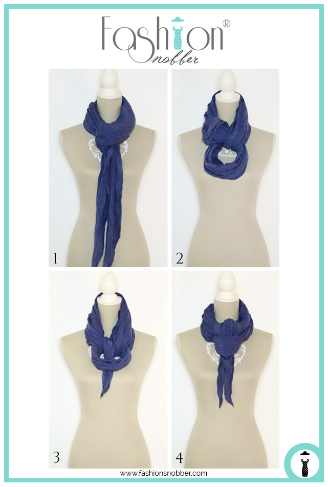 How to wear a scarf in an elegant way.