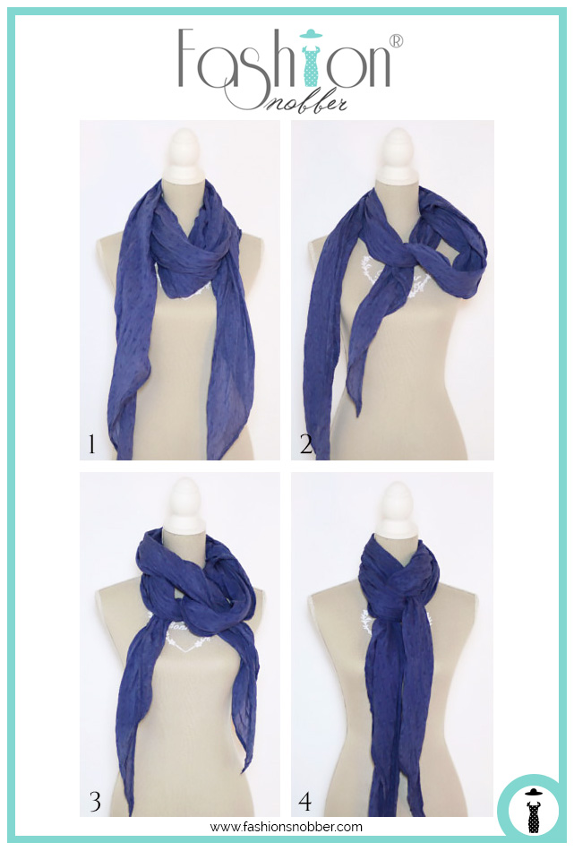 How to wear a scarf in a fashion way.