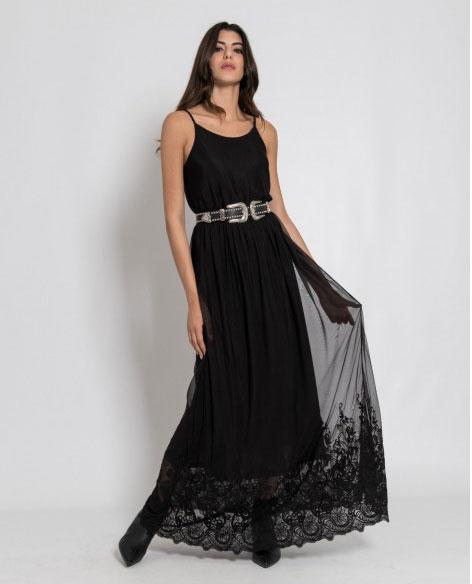 Long dress summer outfit Silvian Heach.