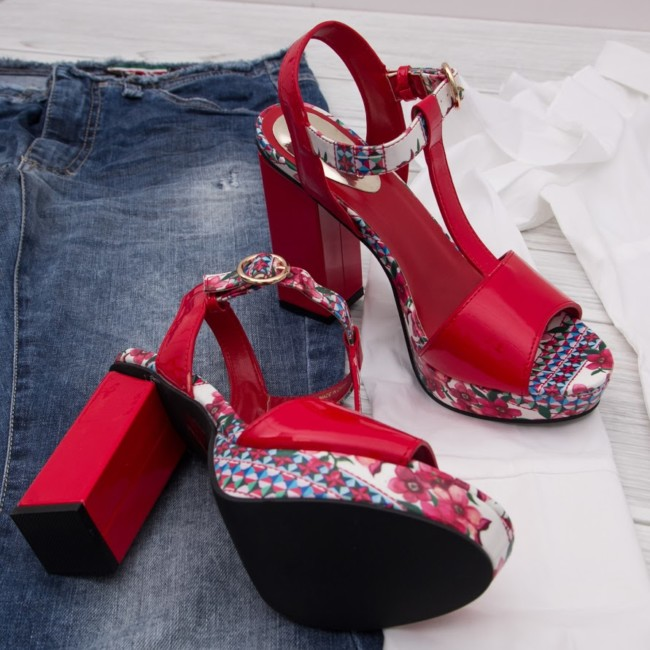 Red sandals Desigual online shop Goccia.clothing.