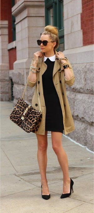 How to wear a trench coat in an elegant way.