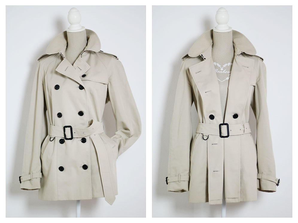 How to wear a Burberry trench coat in 2 different ways.