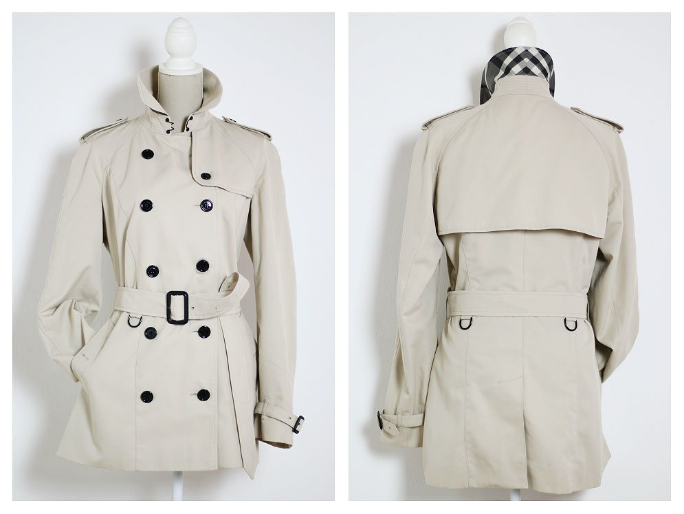How to recognize an original Burberry trench coat.