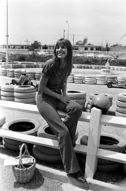 Jane Birkin and straw basket.