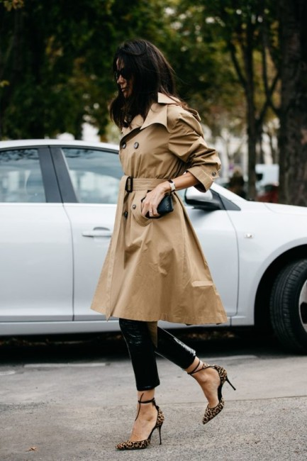 How to wear a raincoat.