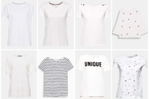 White t-shirt, 8 essential models for a perfect wardrobe