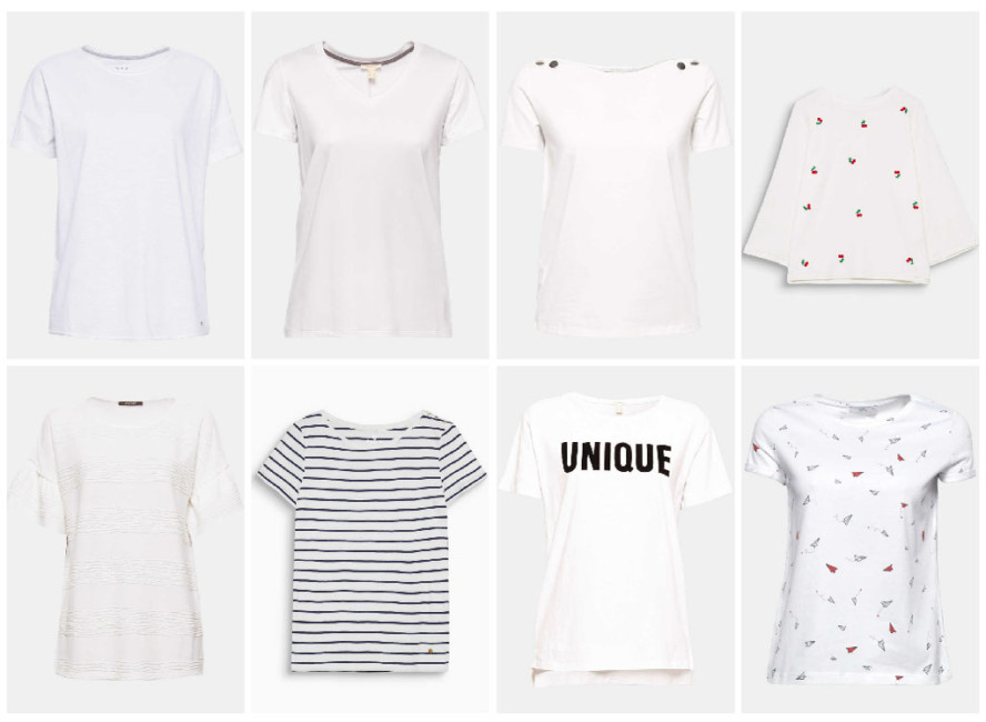 White t-shirt, 8 essential models for a perfect wardrobe ...