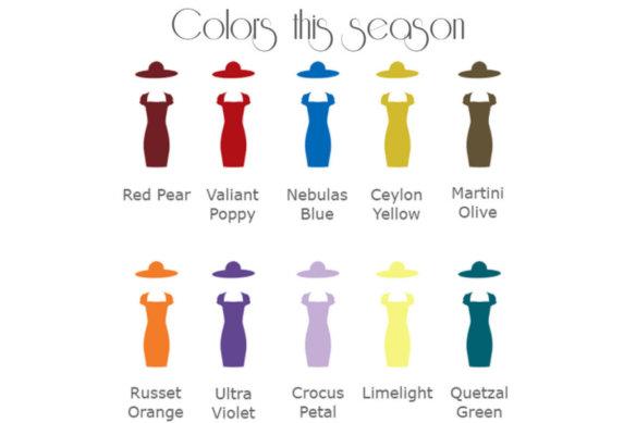 Trendy seasonal colors fall winter 2018/19