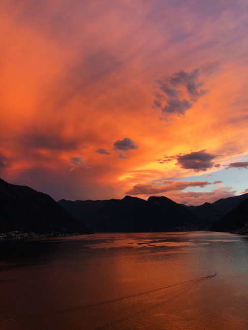 Sunset Lake Como.