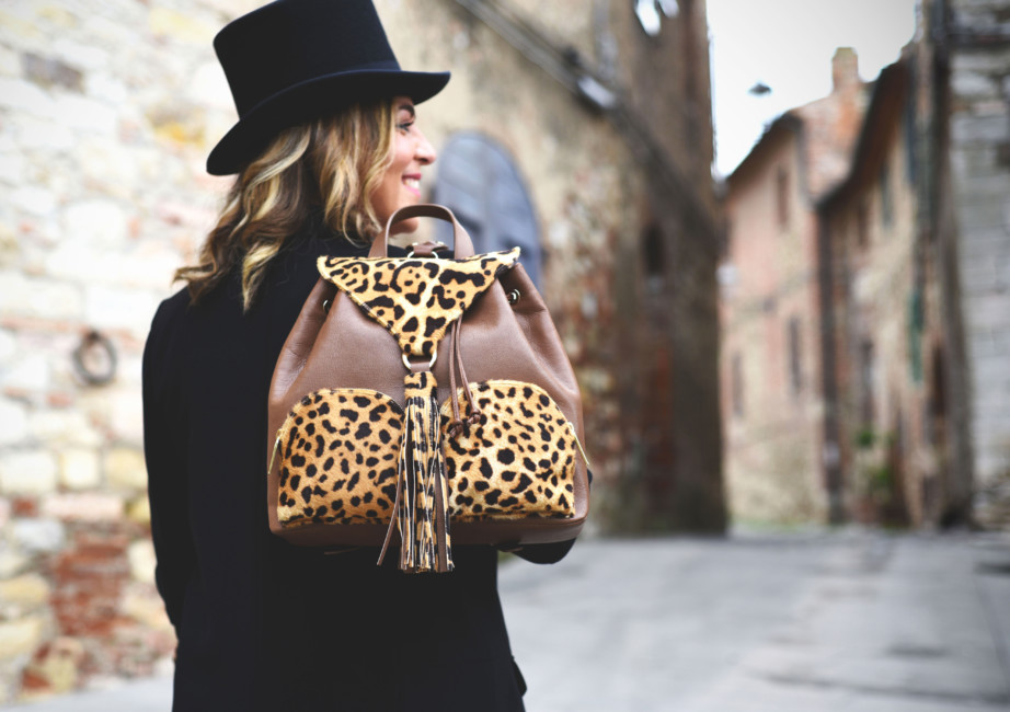 Animalier backpack look idea.