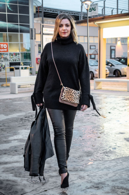 Total clack outfit idea animalier bag.