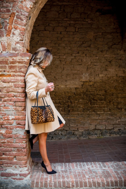 Outfit bon ton bauletto animalier - Bon ton outfit animalier bag.