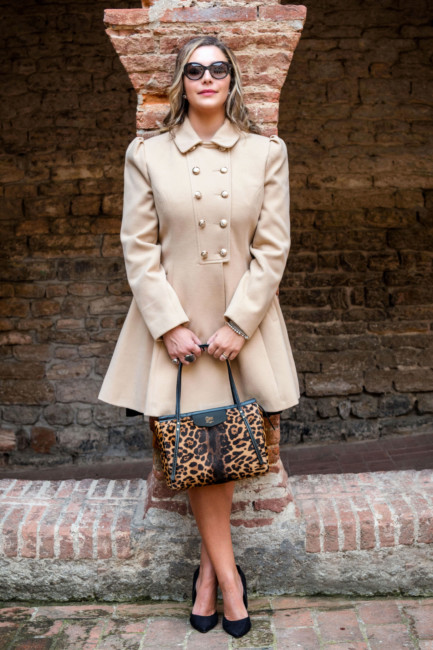 Winter bon ton coat outfit.