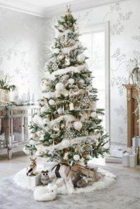 Albero colori di Natale bianco - Christmas colors white tree.