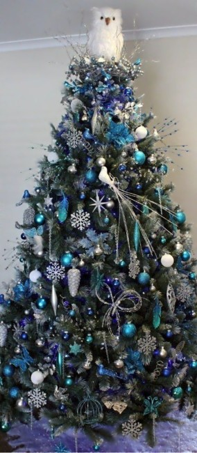 Blue Christmas tree.
