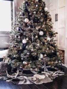 Black Christmas tree.