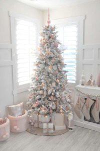 Pink Christmas tree.