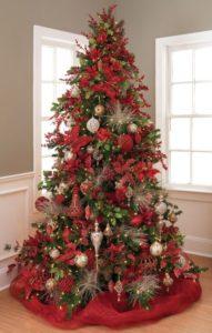 Red Christmas tree.