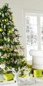 Green Christmas tree.