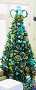 Green and blue Christmas tree.
