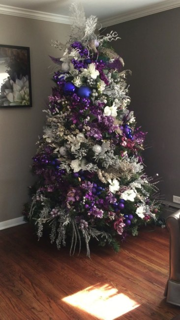 Violet Christmas tree.
