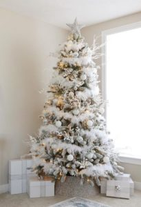 White Christmas tree idea.