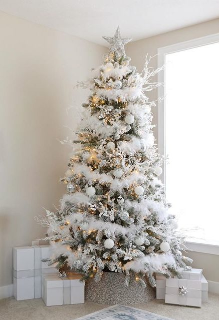 White Christmas tree idea.