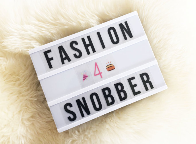 Quarto anno di Fashion Snobber - Fourth year of Fashion Snobber.