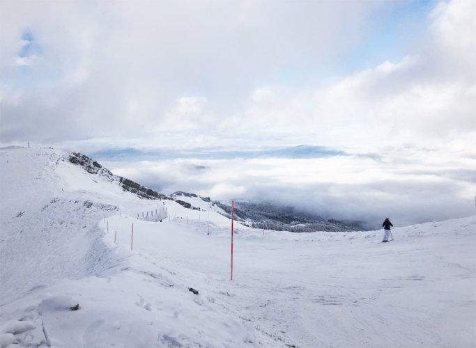 Skiing in Abetone.